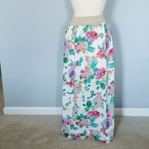 Red Dress Boutique Floral Maxi Skirt